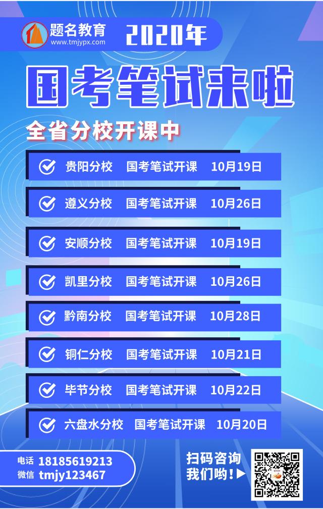 2019年贵州省10月招考简章汇总